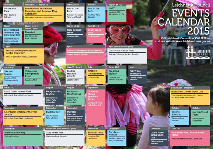 Yearly Events Calendar Australia | yearly calendar printable Part 2