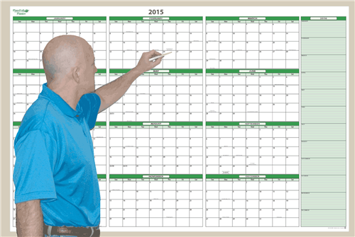 Yearly Wall Calendar Dry Erase | 2017 calendar with holidays