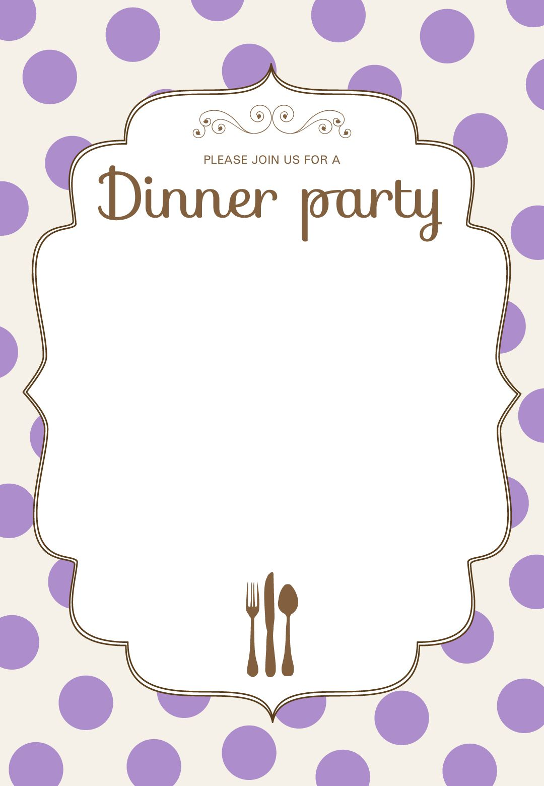 Printable Classic Dinner Party Invitation