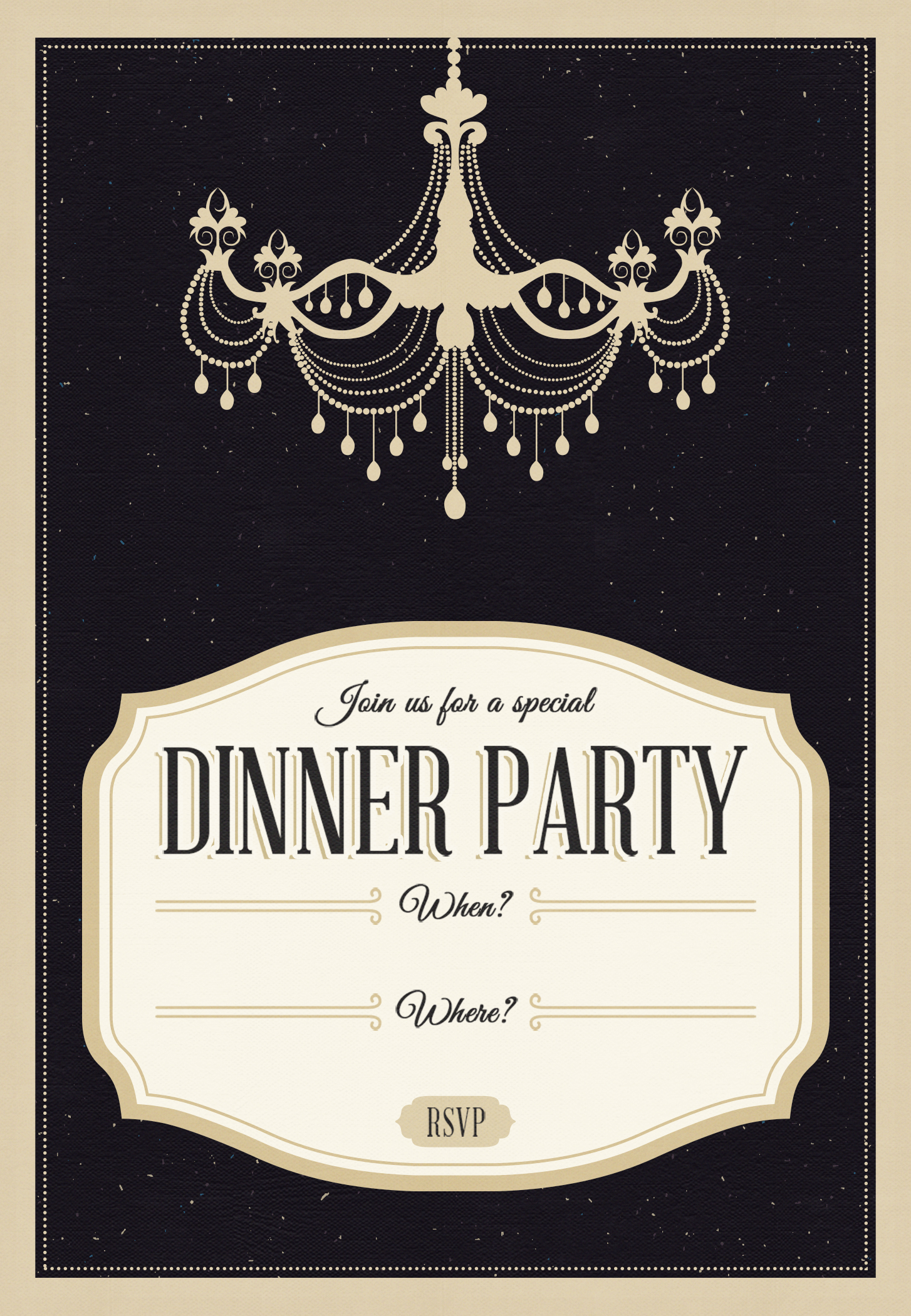 dinner party template templates free printable. Black Bedroom Furniture Sets. Home Design Ideas
