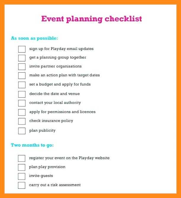 Event Planning Checklist